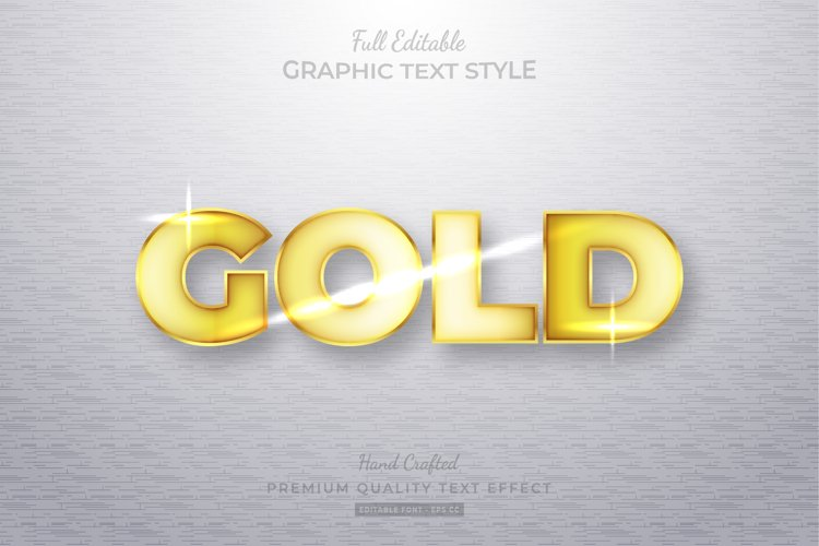 Gold Editable Text Style Effect Premium example image 1