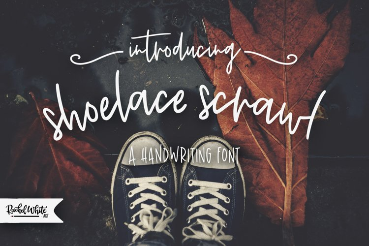 Shoelace Scrawl, a handwriting font example