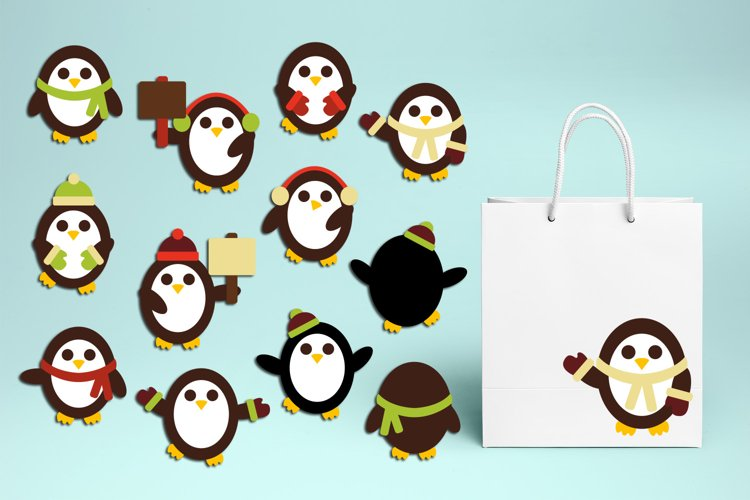 Penguin Winter Illustrations