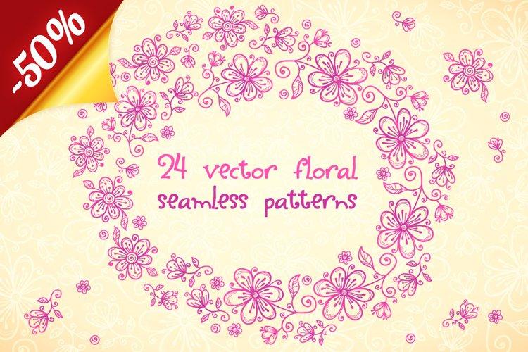 24 vector floral backgrounds