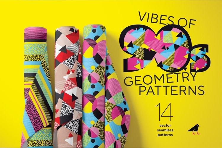 90s vibes geometry patterns set
