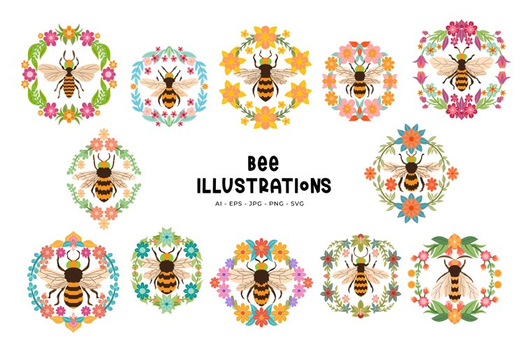 Bee Illustrations