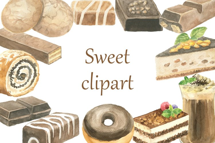 Watercolor sweet clipart