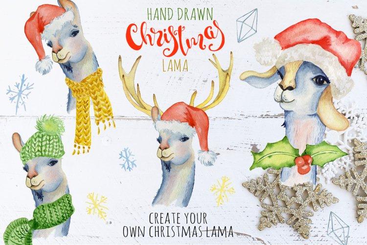 Christmas lama watercolor creator