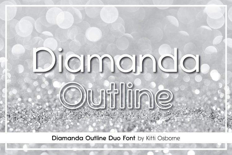 Diamanda Oulines Duo Font example image 1