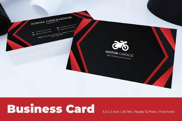 Auto Garage Business Card Template