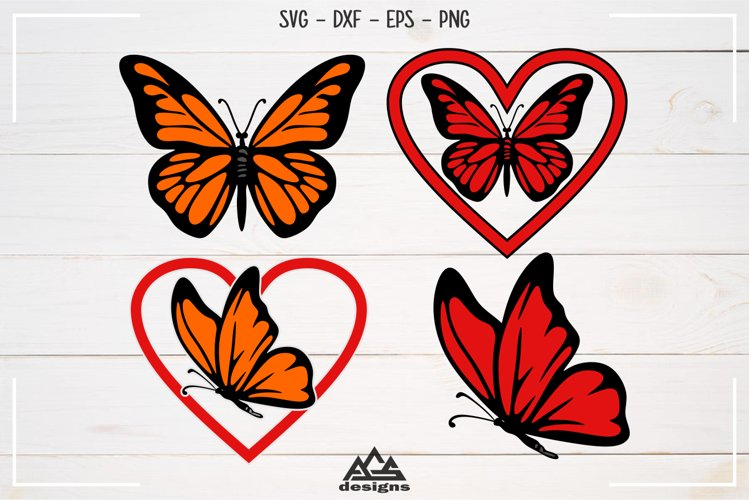 Cute Butterfly Svg, Dxf, Eps, Png, Cutting File Design