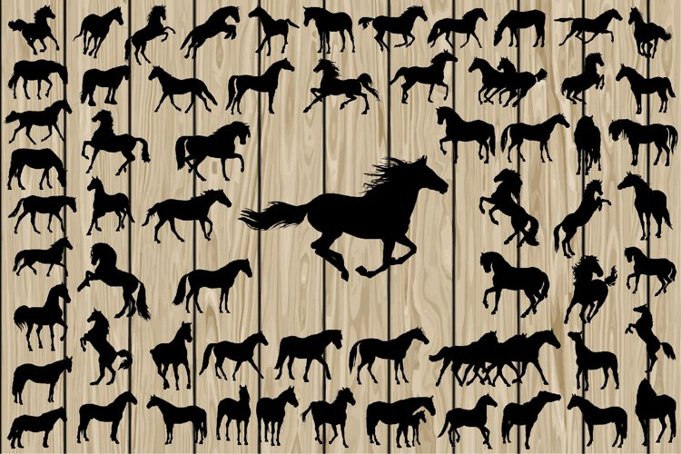 62 Horse SVG, Horse Silhouette, Horse Vector, Running Horse