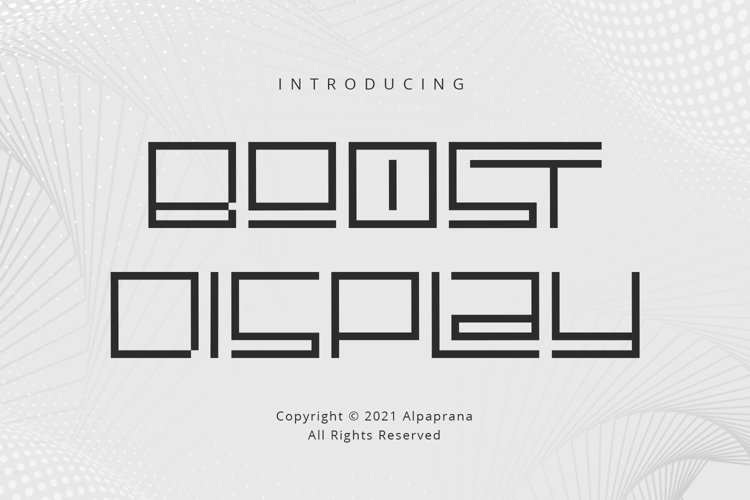 Boost Display - Modern Font example image 1