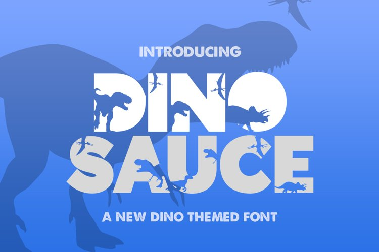 Dinosauce Font example image 1