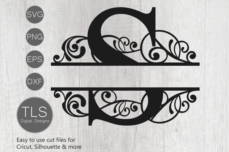 Split Monogram Letter S SVG, Letter S Monogram SVG, Letter
