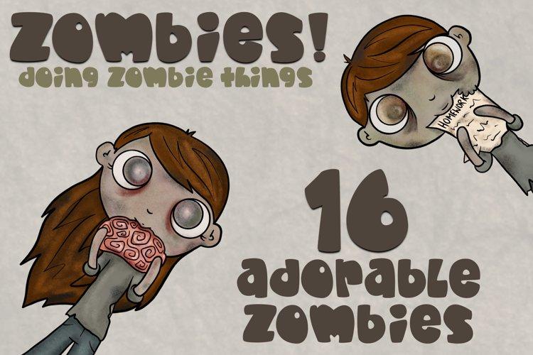 Zombie Bundle|Kid Friendly|Zombie Clipart|16 Clipart PNGS