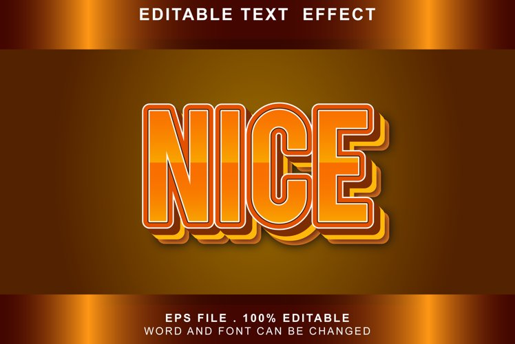 NICE Text Effects editable words and fonts can be replace