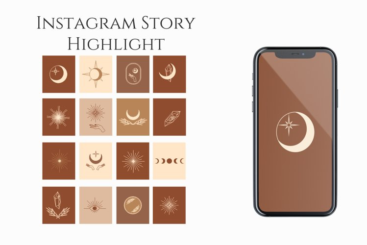 Instagram Story, Highlight Icons, bisness presets,minimalism example image 1