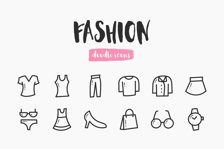 Fashion Hand-Drawn Doodle Icons example image 1