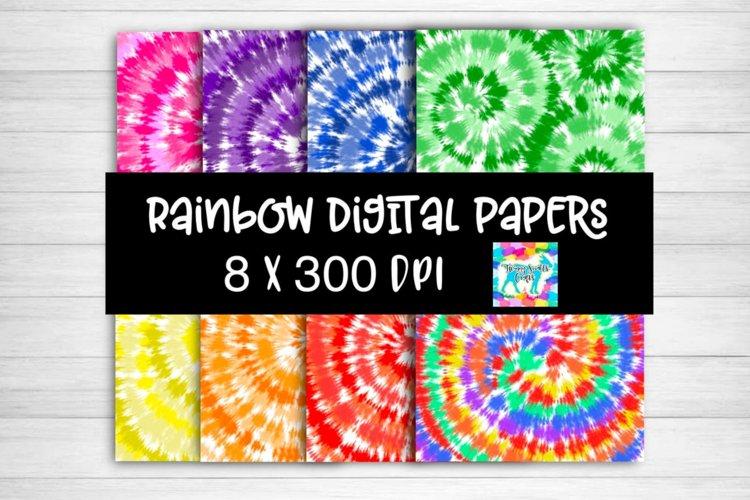 Tie Dye Digital Paper example image 1