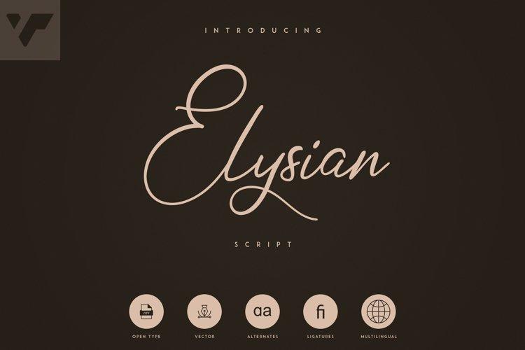 Elysian Script example image 1