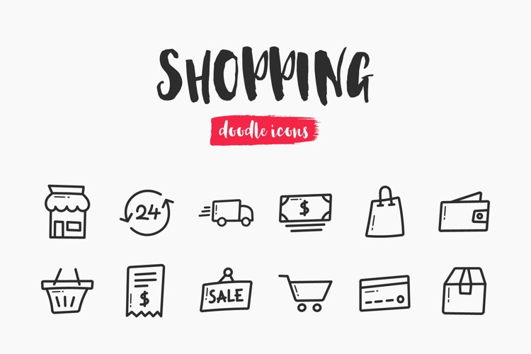 Shopping Hand-Drawn Doodle Icons