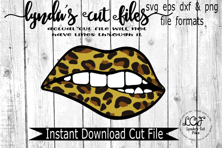 Leopard Lips//SVG//EPS//DXF example image 1