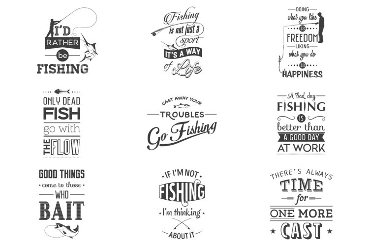 Fishing. Typography quotes. example image 1
