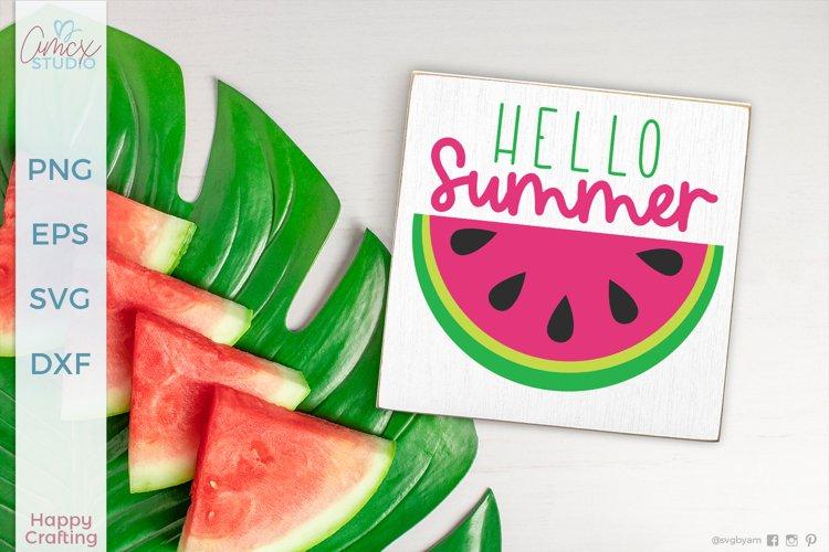 Hello Summer - Summer Craft SVG