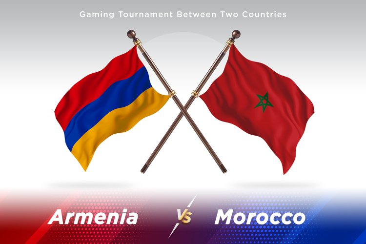 Armenia versus Morocco Two Flags example image 1