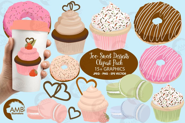 Too Sweet Desserts Clipart Pack AMB-1570