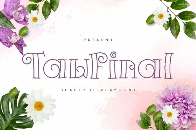 Web Font Tawfinal Display Font example image 1