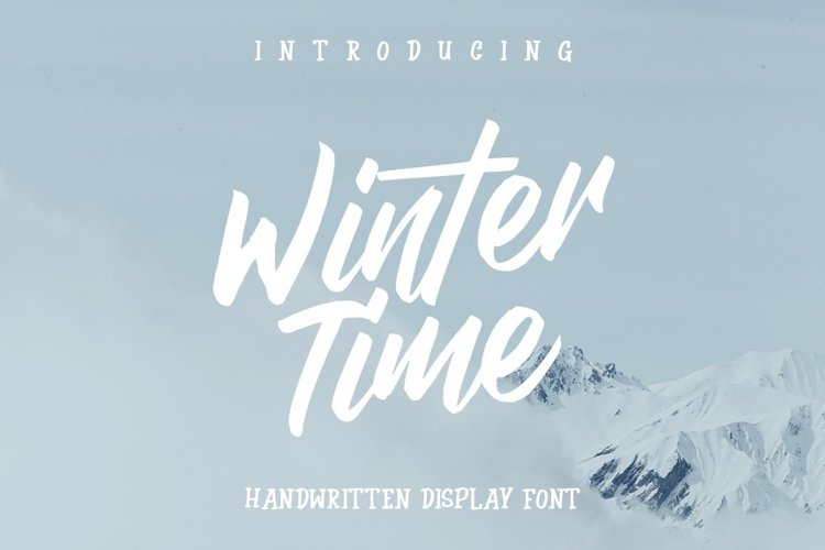 Web Font Winter Time example image 1