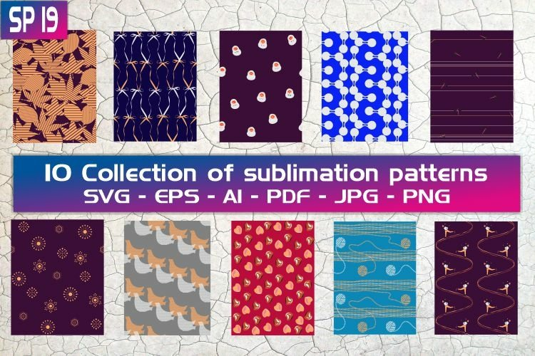 SP19, 10 Collection of sublimation patterns