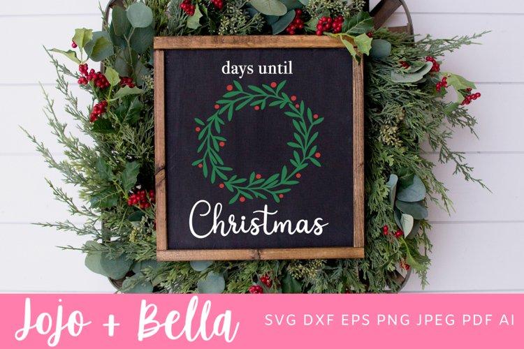 Christmas Svg | Christmas Countdown Svg example image 1