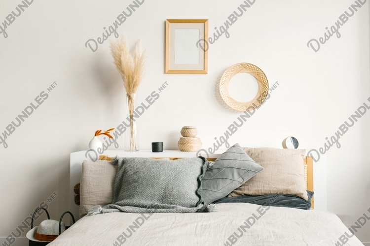 Bedroom in a Scandinavian minimalist style example image 1
