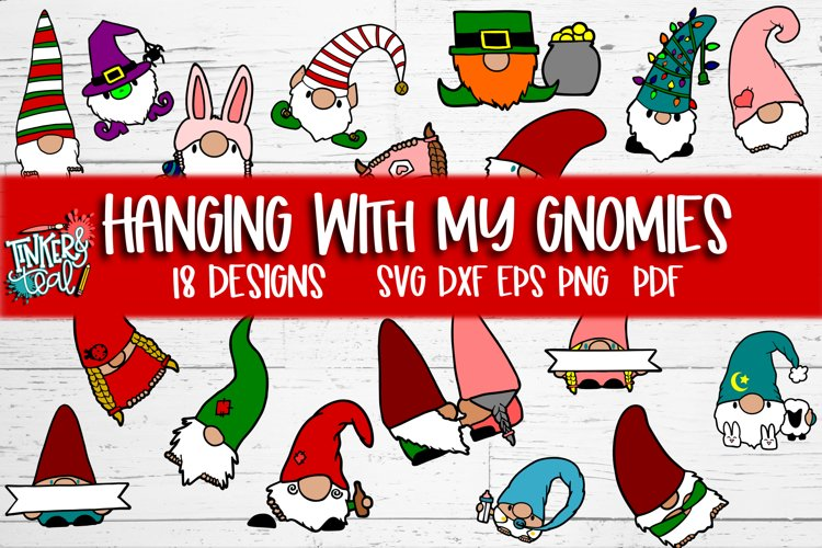 Hanging With My Gnomies SVG Bundle example image 1