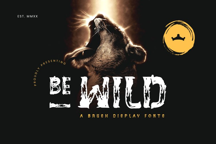 BE-WILD Brush Display Fonts