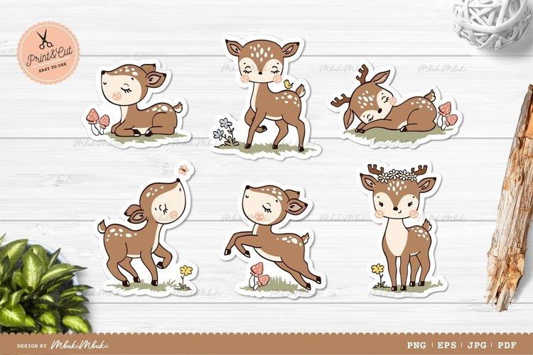 Little Deers Printable Stickers Cricut Design