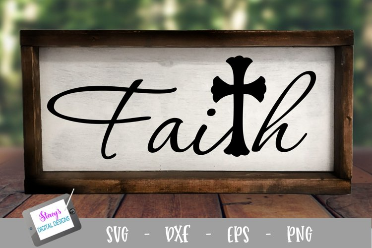 Faith SVG with cross - Christian SVG file example image 1