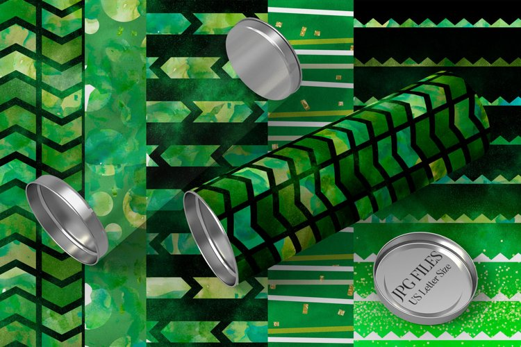 Go green watercolor backgrounds for sublimation