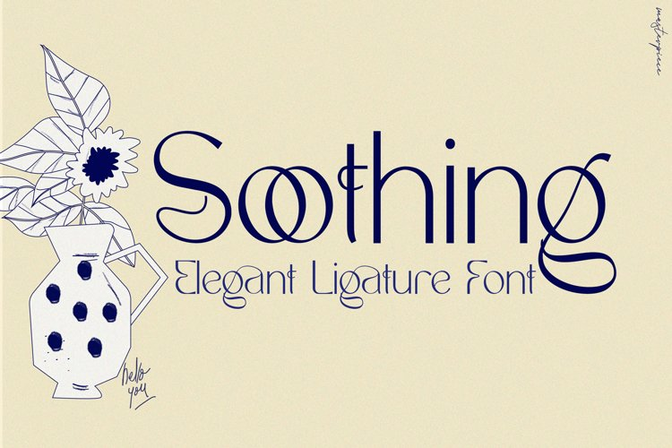 Soothing - Unique Ligature Font example image 1