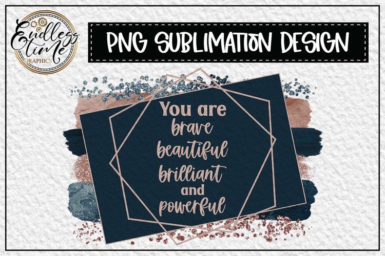 Powerful Sublimation Design Plus Bonus Sticker File example image 1