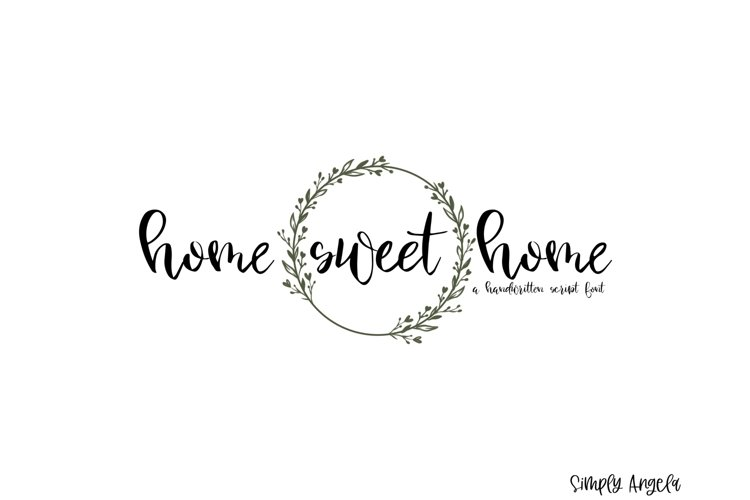 Home Sweet Home - a smooth handwritten script font example image 1