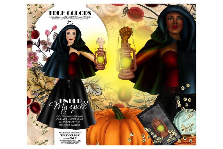 Halloween Clip art Witch Clip Art Pumpkin Clipart example image 1