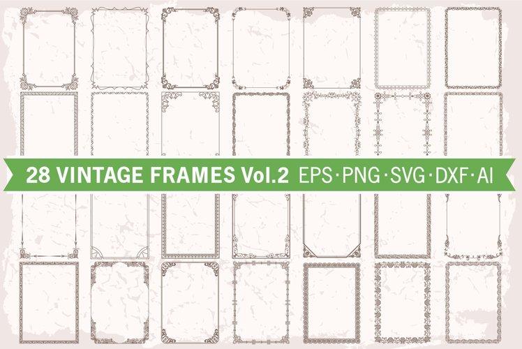 Frames borders set #2, 28 floral decorative backgrounds