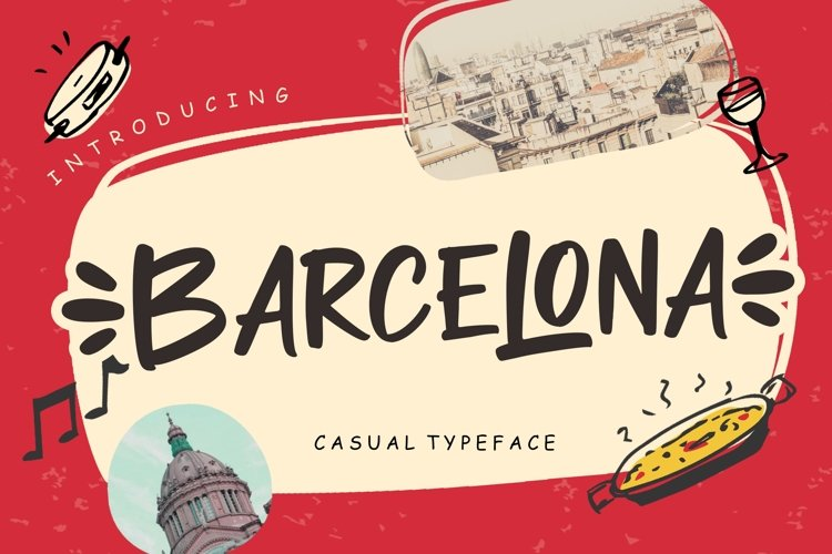 Barcelona Casual Typeface example image 1