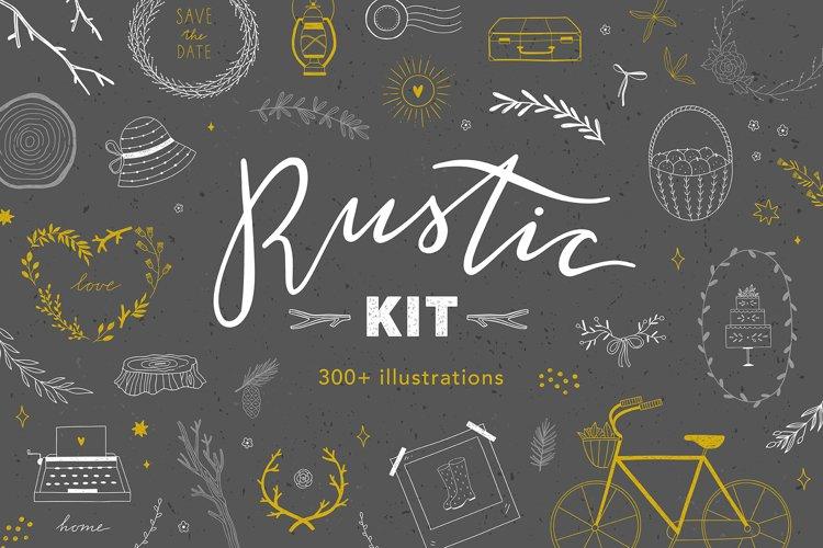 Rustic Kit 300 Illustrations