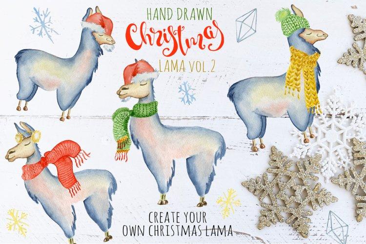 Christmas lama watercolor creator 2 example image 1