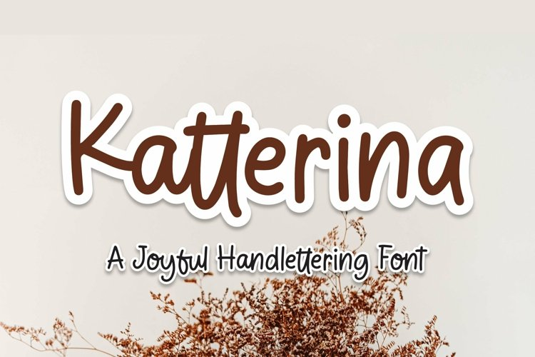 Web Font Katterina - Joyful Handlettering Font example image 1