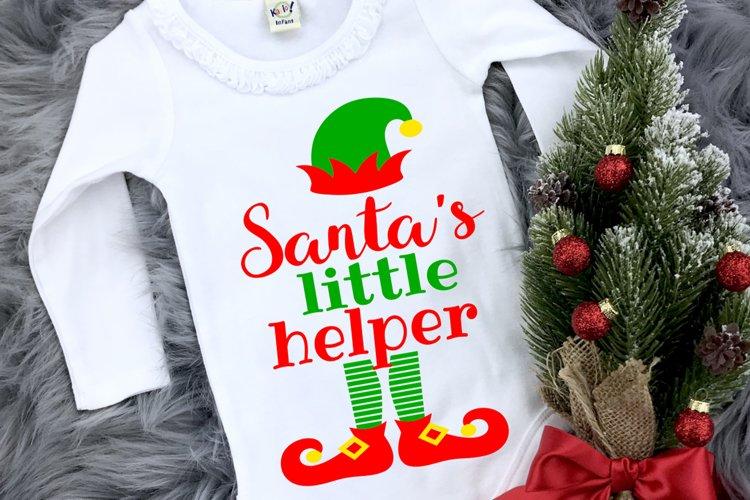 Elf Christmas Kids Santa Shirt SVG DXF EPS PNG PDF example image 1