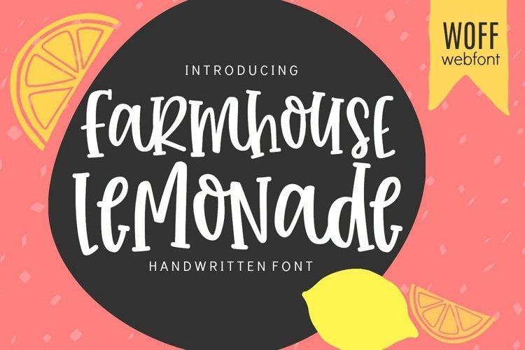 WEB FONT Farmhouse Lemonade - WOFF File example image 1