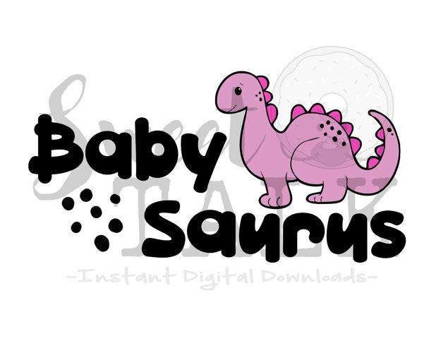 Baby Saurus -svg,dxf,png,jpg, Instant Digital Download example image 1