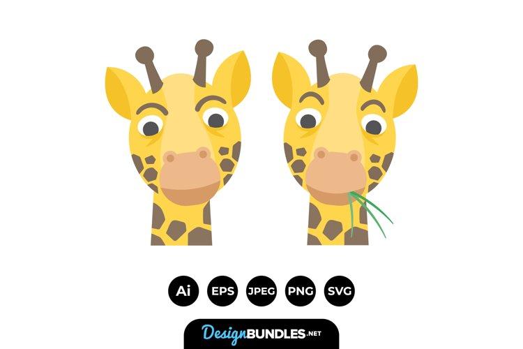 Giraffe Face Illustrations